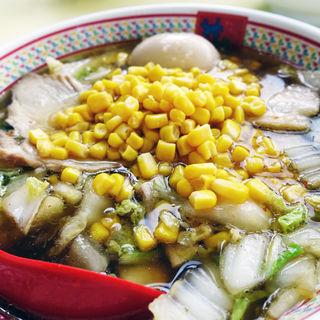 煮玉子コーンラーメン(どうとんぼり神座  香芝SA店 (かむくら))