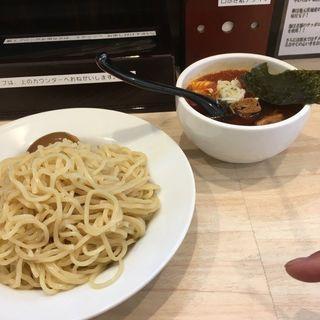 激辛つけ麺大盛り(つけ麺 坊主 間宮)