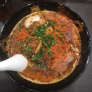 味玉カラシビ味噌らー麺(カラシビ味噌らー麺 鬼金棒 (キカンボウ))