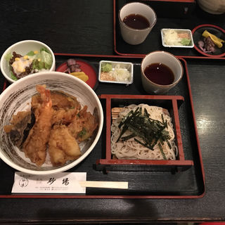 天丼とせいろそば(名代そば処砂場イオン熊谷店)