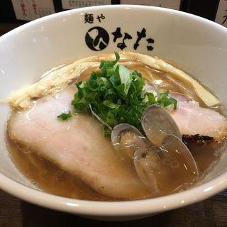 貝と煮干しの醤油らーめん(温かい)(麺や ひなた)