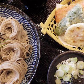 へぎそば大盛り、天ぷらセット(あん庵 )