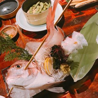 鯛の活き造り(ざうお 目黒店 )