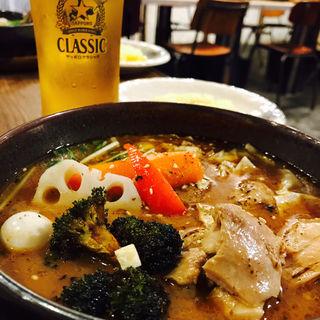 チキンレッグと野菜(スープカレーGARAKU (ガラク))