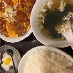 麻婆豆腐と唐揚げ