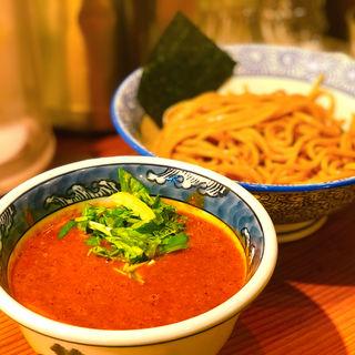 辛つけ麺(胚芽麺)(道玄坂マンモス)