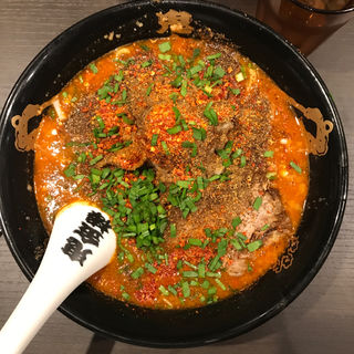 カラシビ味噌らー麺+カラ鬼殺し+シビ鬼殺し(カラシビ味噌らー麺 鬼金棒 (キカンボウ))