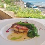 近海鮮魚のサルターティ 静岡産マッシュルームのデュクセル 白バルサミコ酢とビーツのソース