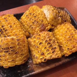 とうもろこしのバター醤油焼き(兜町 もつ千 (カブトチョウ モツセン))