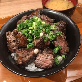 ステーキ丼(味噌汁付き)(きわみや ごはん 福岡パルコ店 )
