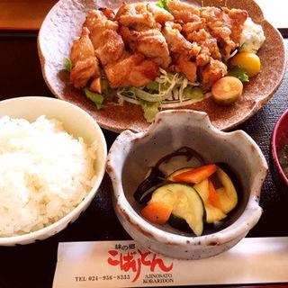チキン味噌焼き定食(味の郷こばりどん)
