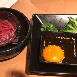 国産牛ユッケ(焼肉屋さかい 京都一乗寺店 (ヤキニクヤサカイ))
