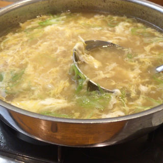 雑炊(鴨と葱 淀水二行)