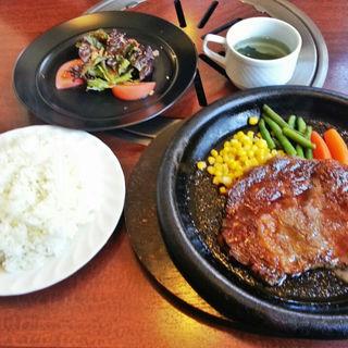 牛ロースステーキセット(伊都国街道 肉の食事処)