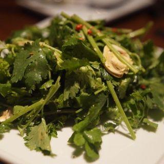 パクチー、クレソン、マッシュルームのサラダ(TOKYO KITCHEN (東京キッチン))