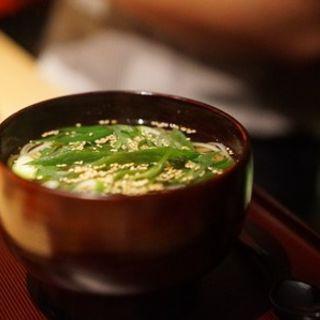 九条葱の鶏出汁うどん(観音坂 鳥幸)