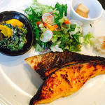 銀鮭の西京焼きプレート