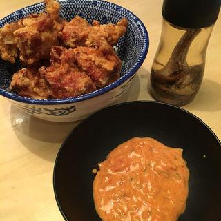 肉汁からあげ カレータルタルソーストッピング(必死のパッチ製麺所 )