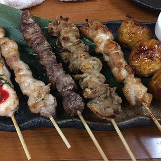 三河鶏串焼き6種盛り(居酒屋 鶴八 新幹線駅前店 (つるはち))