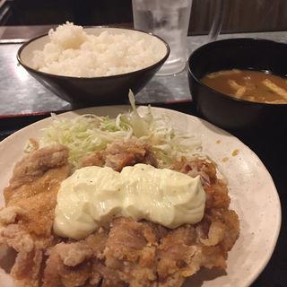 チキン南蛮定食(大分からあげと鉄板焼 勝男 阪急梅田店 )