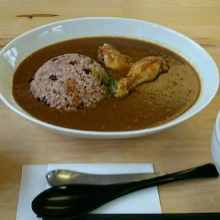 薬膳酵素玄米チキンカレーのランチセット(食堂&カフェYakuzen)
