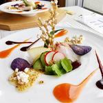 明石鯛の秋色サラダ