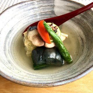 あおさ海苔と蓮根の湯葉巻きご飯 焼き鯖のせ(Relax (リラックス))