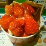 苺ヨーグルトワッフル