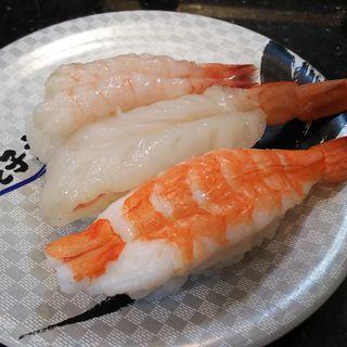 えび三貫(すし銚子丸 武蔵小杉店 )