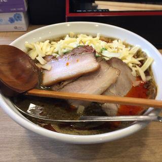 黒のカレー担々麺(麺や 蓮と凛)