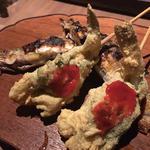 【黄金コース】串 - 本日のおすすめ四本 : 白身魚 大葉