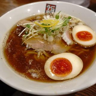 秋刀魚煮干しらーめん+味付け玉子(玉五郎 大阪駅前第4ビル店 )