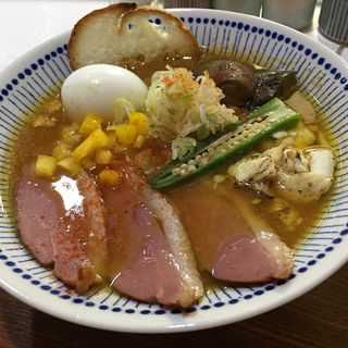優しいスパイスカレーらぁー麺(真鯛らぁー麺 日より)