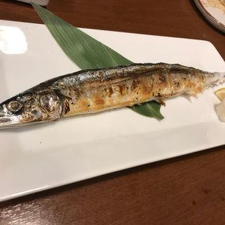 秋刀魚塩焼き(博多海鮮魚市場)