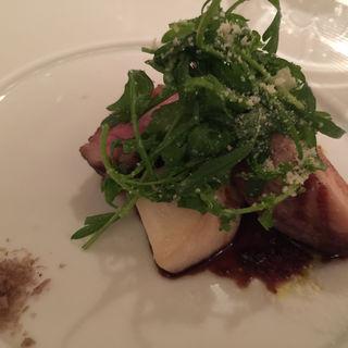 江別産黒豚ロース肉のグリーリア(リストランテ カノフィーロ)