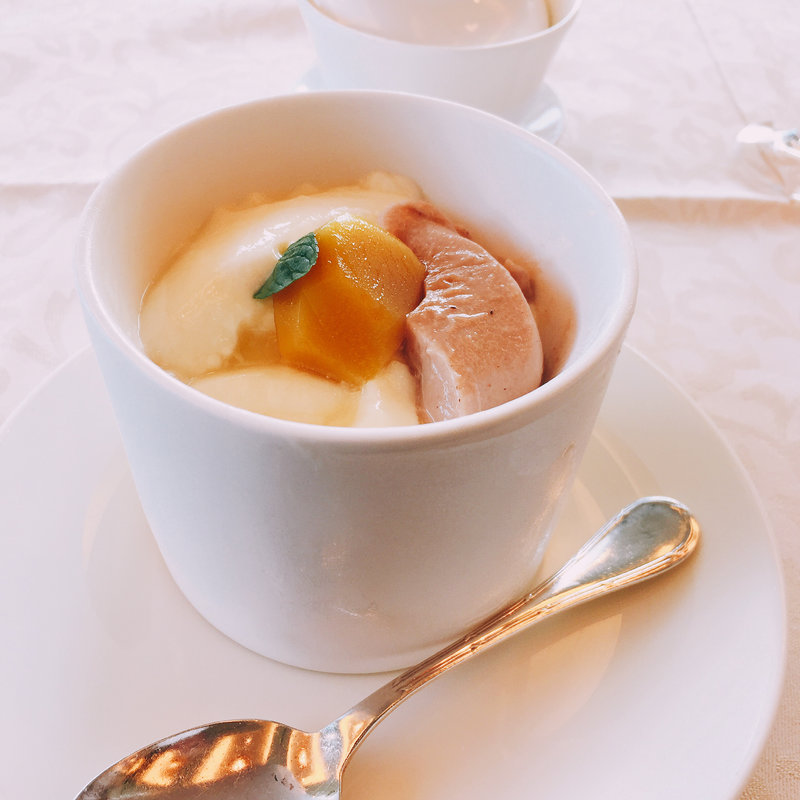 杏仁豆腐と栗のプリン