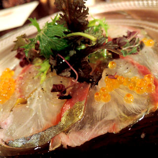 玄海産 本日の鮮魚のカルパッチョ(ジェリービーンズ )