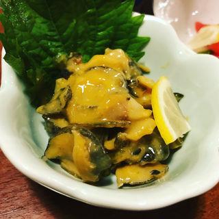 磯貝辛子酢味噌(博多海鮮魚市場)