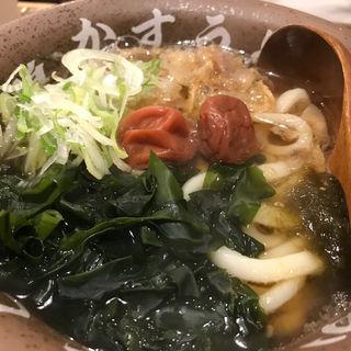 梅わかめかすうどん(龍の巣 博多中州店 )