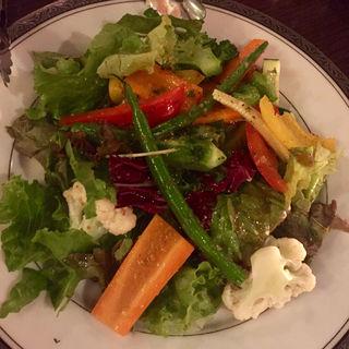 季節野菜の温野菜サラダ(WINE & BISTRO LA CAVE Jelly Beans(ワイン&ビストロ ラ・カーヴ・ジェリービーンズ))