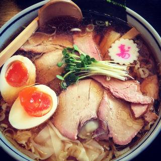 ワンタンチャーシュー麺(手打中華 麺民 ことぶき家 )