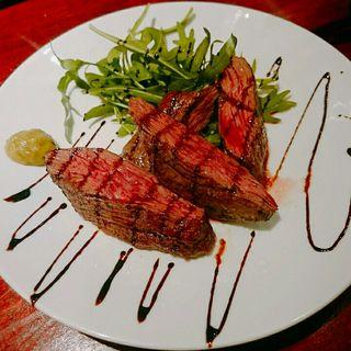 牛サガリのステーキ(エスターテ ~自然派ワインが中心のイタリアン~ )