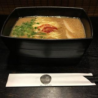 釜だれとんこつラーメン(一蘭 キャナルシティ博多店)