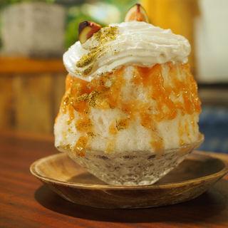 完熟イチヂクの山椒がけエスプーマ(cafe12)