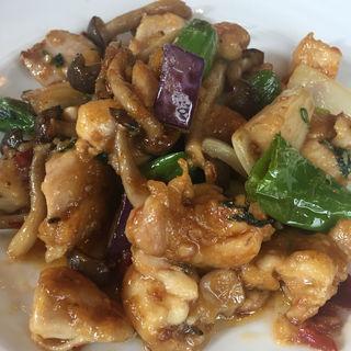 清流鶏の香菜炒め(チャイニーズレストラン ウチダテイ )