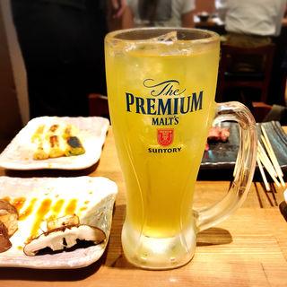 緑茶ハイ(もつ焼き勝利はなれ)
