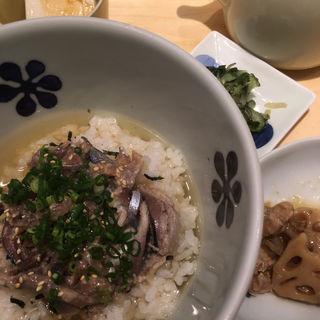 宮城県産秋刀魚の梅なめろうだし茶漬け(だし茶漬け えん)