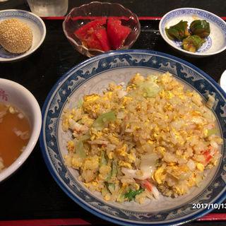 蟹レタス炒飯セット(中国酒家 獅子房 (シーズーファン she-tzu-fun))