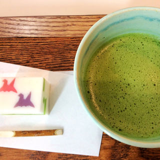 特別和菓子 抹茶セット(Cafe 椿 山種美術館内)