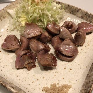 砂ずりの塩焼き(鉄板焼 曉)